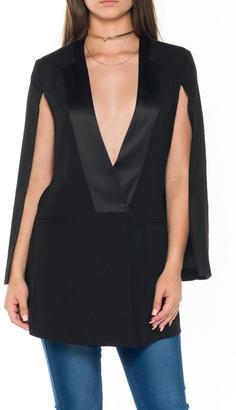 Bella Black Cape Blazer $108 thestylecure.com