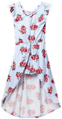 XOXO Floral Walk Thru Maxi Romper (Big Girls)