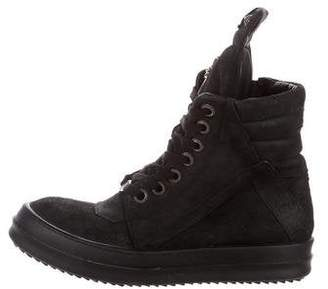 Rick Owens Chrome Hearts x High-Top Sneakers