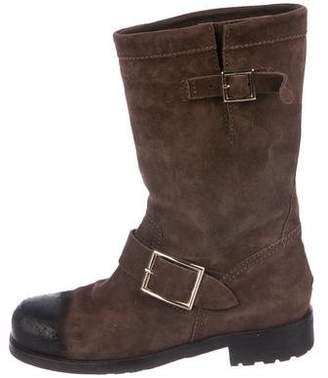 Jimmy Choo Distressed Moto Ankle Boots