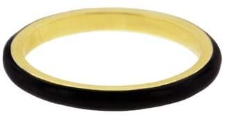 Couture Sethi Black Enamel Ring - Yellow Gold