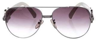Fendi Gradient Metal Aviators