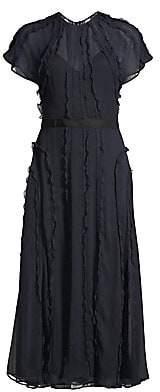 Jason Wu Collection Women's Crinkle Silk Chiffon Ruffle Midi Dress