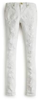 Blank NYC BLANKNYC Girls' Distressed White Skinny Jeans - Big Kid