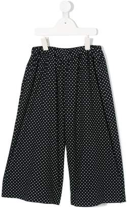 Familiar polka dots loose-fit trousers