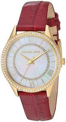 Michael Kors Women's 'Lauryn' Quartz Stainless Steel and Leather Watch
