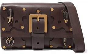 Valentino Embellished Cutout Leather Shoulder Bag