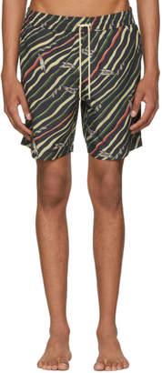 Loewe Black Paulas Ibiza Edition Flag Swim Shorts