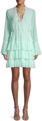 Allison New York Dot Textured A-Line Dress