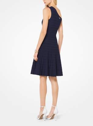 MICHAEL Michael Kors Asymmetrical Stretch-Knit Dress