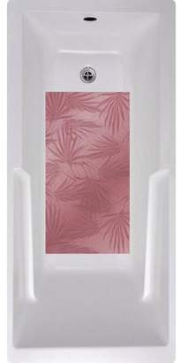 No Slip Mat by Versatraction Palm Frond Bath Tub and Shower Mat