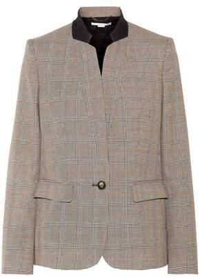 Stella McCartney Fleur Prince Of Wales Wool Blazer