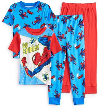 Spiderman Licensed Character Boys 4-10 4-Piece Pajama Set