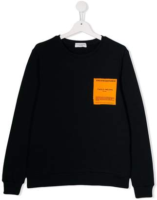 Paolo Pecora Kids TEEN snowboarding patch sweatshirt