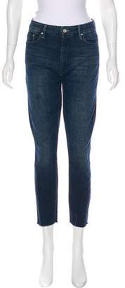 Mother Looker Ankle Fray High-Rise Jeans