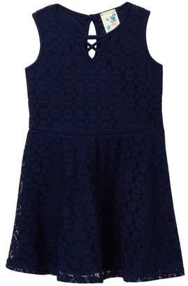 bcd41e286ae6 Jenna   Jessie Sleeveless Lace Skater Dress (Little Girls)
