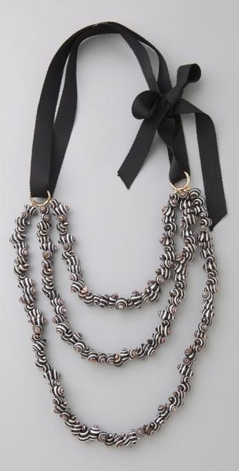 Amanda Pearl Graphics Triple Strand Necklace
