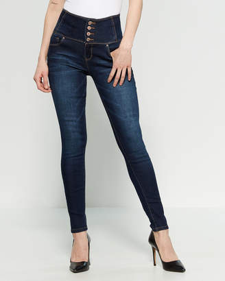 YMI Jeanswear Corset High-Rise Skinny Jeans