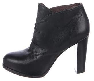 Bruno Magli Leather Lace-Up Booties