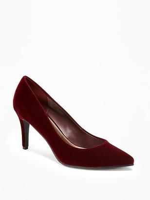 Velvet Pumps for Women $36.94 thestylecure.com