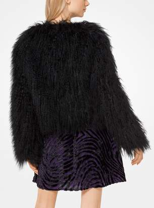 MICHAEL Michael Kors Long-Hair Mongolian Fur Coat