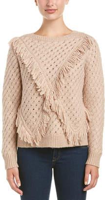 Rebecca Taylor Fringe Wool-Blend Sweater