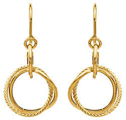 QVC 14K Small Twisted Circle Shepherd Hook Earrings
