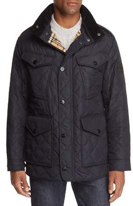 Burberry Ascott Corduroy-Trimmed Quilted Field Jacket