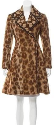 Celine Virgin Wool & Mohair-Blend Jacquard Coat