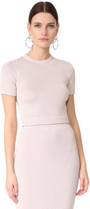 Cushnie Et Ochs Cropped Crew Top $595 thestylecure.com