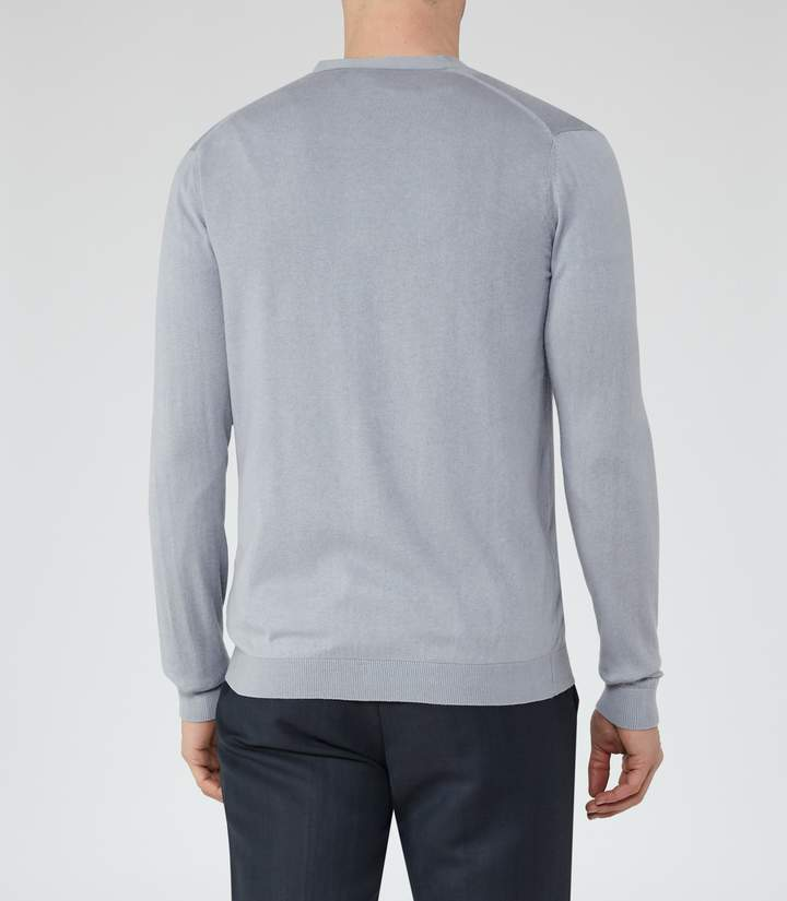 Reiss Seamore Silk And Cotton Cardigan