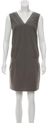 Brunello Cucinelli Monili-Trimmed Mini Dress