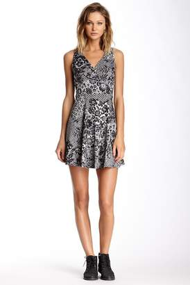 Soprano Sleeveless Printed Skate Dress