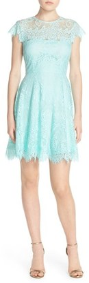 Women's Bb Dakota 'Rhianna' Illusion Yoke Lace Fit & Flare Dress $98 thestylecure.com