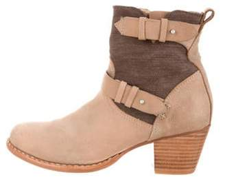 Rag & Bone Leather Round-Toe Ankle Boots Tan Leather Round-Toe Ankle Boots