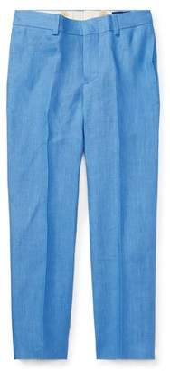 Ralph Lauren Childrenswear Woodsman Pleated Pants, Blue, Size 2-3