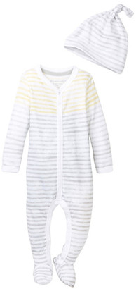Burt's Bees Baby Burt&s Bees Baby Organic Watercolor Striped Footie & Hat Set (Baby Boys) $17.95 thestylecure.com