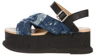 MM6 MAISON MARGIELA Denim Flatform Sandals