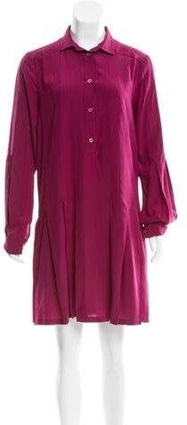 GucciGucci Pleated Silk Dress