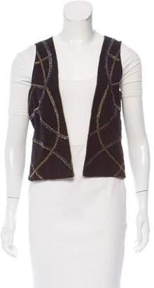 IRO Embellished Open Front Vest