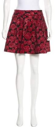 Alice + Olivia Rose Print Mini Skirt w/ Tags