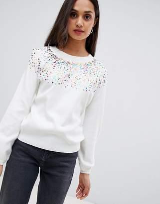 Wild Flower MULTICOLOR scatter sequin sweater