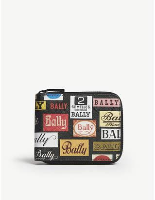 Bally Black Benner Logo Leather Wallet