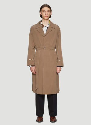 Our Legacy Belted Long Coat in Brown