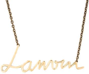 LanvinLanvin Logo Pendant Necklace