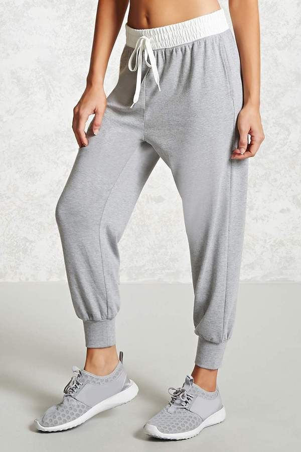 FOREVER 21 Active Contrast Waist Joggers