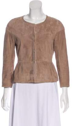Paule Ka Flared Leather Jacket Flared Leather Jacket