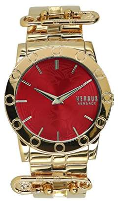 Versus By Versace Women's 'Miami Bracelet' Quartz Tone and Gold Plated Fashion Watch(Model: VSP722017)