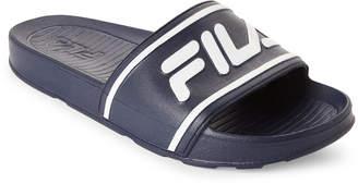 Fila Navy & White Sleek Slide Sandals