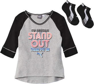 Puma Girls' 2Pc Shirt And Sock Set